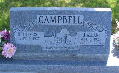 CAMPBELL, BETH - Cache County, Utah | BETH CAMPBELL - Utah Gravestone Photos