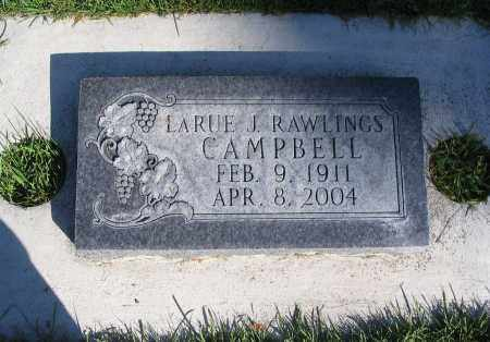 RAWLINGS CAMPBELL, LARUE J. - Cache County, Utah   LARUE J. RAWLINGS CAMPBELL - Utah Gravestone Photos