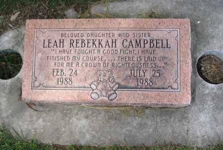 CAMPBELL, LEAH REBEKKAH - Cache County, Utah | LEAH REBEKKAH CAMPBELL - Utah Gravestone Photos