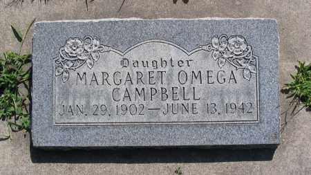 CAMPBELL, MARGARET OMEGA - Cache County, Utah | MARGARET OMEGA CAMPBELL - Utah Gravestone Photos