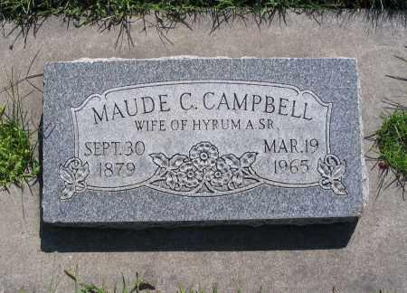 CAMPBELL, ORILLA MAUDE - Cache County, Utah   ORILLA MAUDE CAMPBELL - Utah Gravestone Photos