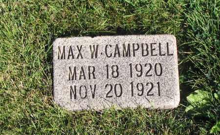CAMPBELL, MAX W. - Cache County, Utah | MAX W. CAMPBELL - Utah Gravestone Photos