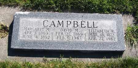 CAMPBELL, ELIZABETH R. - Cache County, Utah | ELIZABETH R. CAMPBELL - Utah Gravestone Photos