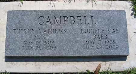 CAMPBELL, THERON MATHEWS (DICK) - Cache County, Utah   THERON MATHEWS (DICK) CAMPBELL - Utah Gravestone Photos