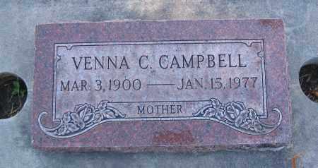 CAMPBELL, VENNA BERTHA - Cache County, Utah   VENNA BERTHA CAMPBELL - Utah Gravestone Photos