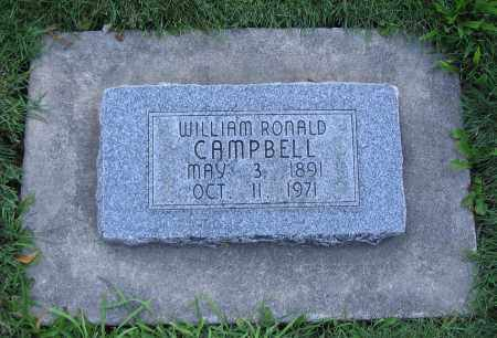 CAMPBELL, WILLIAM RONALD - Cache County, Utah   WILLIAM RONALD CAMPBELL - Utah Gravestone Photos