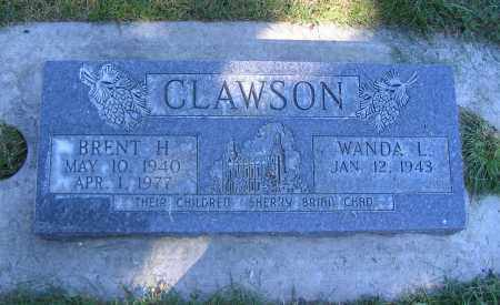 CLAWSON, BRENT H. - Cache County, Utah | BRENT H. CLAWSON - Utah Gravestone Photos