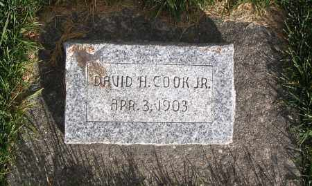 COOK, DAVID H. JR. - Cache County, Utah | DAVID H. JR. COOK - Utah Gravestone Photos