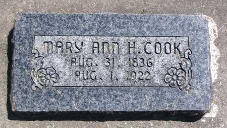 COOK, MARY ANN H. - Cache County, Utah | MARY ANN H. COOK - Utah Gravestone Photos
