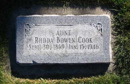 COOK, RHODA - Cache County, Utah | RHODA COOK - Utah Gravestone Photos