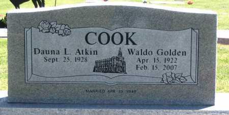 COOK, WALDO GOLDEN - Cache County, Utah | WALDO GOLDEN COOK - Utah Gravestone Photos