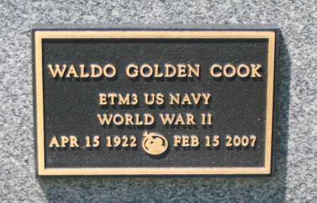 COOK, WALDO GOLDEN - Cache County, Utah | WALDO GOLDEN COOK - Utah Gravestone Photos