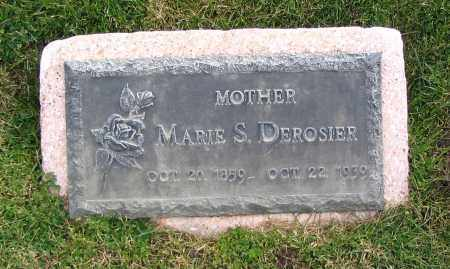 DEROSIER, MARIE S. - Cache County, Utah   MARIE S. DEROSIER - Utah Gravestone Photos