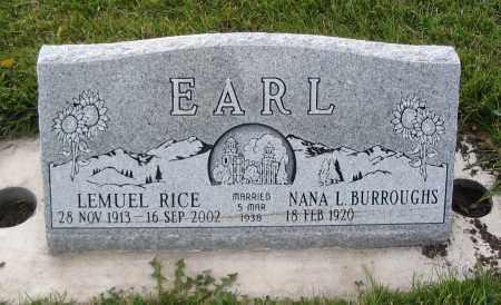 EARL, LEMUEL RICE - Cache County, Utah | LEMUEL RICE EARL - Utah Gravestone Photos
