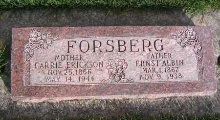 ERICKSON FORSBERG, CARRIE - Cache County, Utah | CARRIE ERICKSON FORSBERG - Utah Gravestone Photos