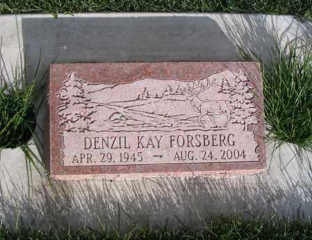 FORSBERG, DENZIL KAY - Cache County, Utah | DENZIL KAY FORSBERG - Utah Gravestone Photos