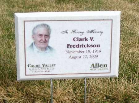 FREDRICKSON, CLARK V. - Cache County, Utah   CLARK V. FREDRICKSON - Utah Gravestone Photos