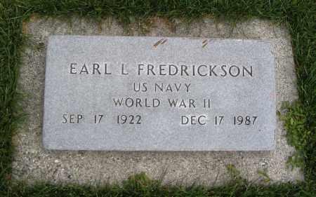 FREDRICKSON (WWII), EARL L. - Cache County, Utah   EARL L. FREDRICKSON (WWII) - Utah Gravestone Photos