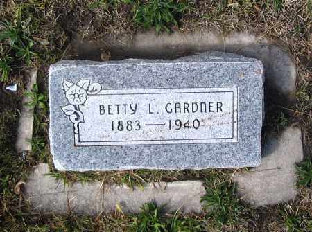 GARDNER, BETTY L. - Cache County, Utah | BETTY L. GARDNER - Utah Gravestone Photos