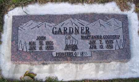 GARDNER, JOHN - Cache County, Utah | JOHN GARDNER - Utah Gravestone Photos