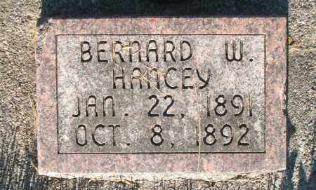 HANCEY, BERNARD W. - Cache County, Utah   BERNARD W. HANCEY - Utah Gravestone Photos