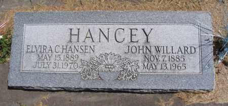 HANCEY, JOHN WILLARD - Cache County, Utah   JOHN WILLARD HANCEY - Utah Gravestone Photos