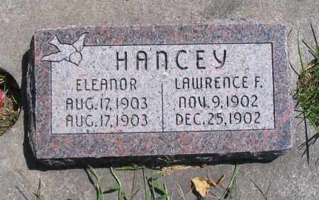 HANCEY, LAWRENCE F. - Cache County, Utah | LAWRENCE F. HANCEY - Utah Gravestone Photos