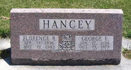 HANCEY, FLORENCE R. - Cache County, Utah   FLORENCE R. HANCEY - Utah Gravestone Photos
