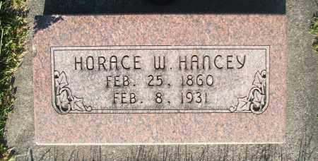 HANCEY, HORACE WILLIAM - Cache County, Utah   HORACE WILLIAM HANCEY - Utah Gravestone Photos