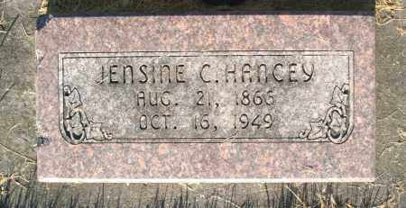 HANCEY, JENSINE - Cache County, Utah | JENSINE HANCEY - Utah Gravestone Photos