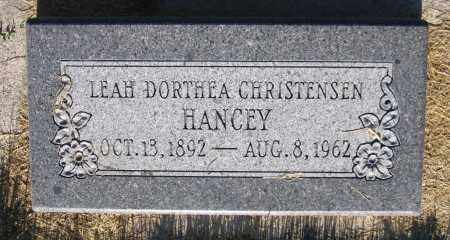 HANCEY, LEAH DORTHEA - Cache County, Utah | LEAH DORTHEA HANCEY - Utah Gravestone Photos