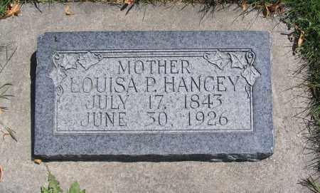 HANCEY, LOUISA P. - Cache County, Utah | LOUISA P. HANCEY - Utah Gravestone Photos