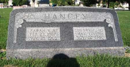HANCEY, SARAH V.W. - Cache County, Utah | SARAH V.W. HANCEY - Utah Gravestone Photos