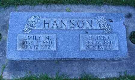 HANSON, EMILY M. - Cache County, Utah   EMILY M. HANSON - Utah Gravestone Photos