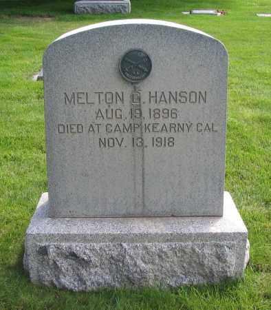 HANSON, MELTON G. - Cache County, Utah | MELTON G. HANSON - Utah Gravestone Photos