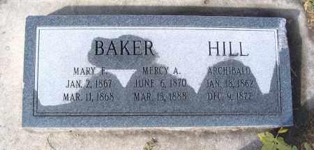 BAKER, MARY F. - Cache County, Utah   MARY F. BAKER - Utah Gravestone Photos