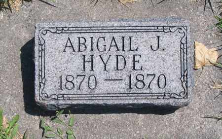 HYDE, ABIGAIL J. - Cache County, Utah | ABIGAIL J. HYDE - Utah Gravestone Photos