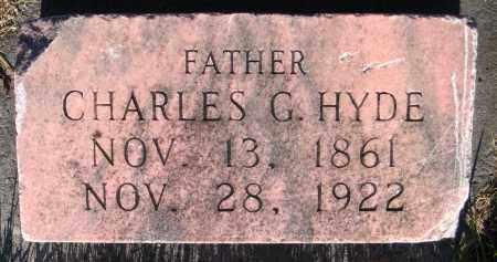 HYDE, CHARLES G. - Cache County, Utah | CHARLES G. HYDE - Utah Gravestone Photos