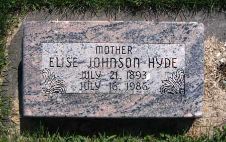 HYDE, ELISE - Cache County, Utah   ELISE HYDE - Utah Gravestone Photos