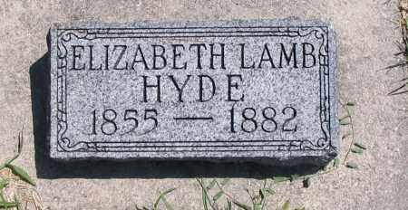HYDE, ELIZABETH - Cache County, Utah | ELIZABETH HYDE - Utah Gravestone Photos