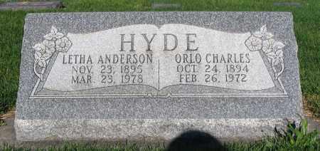 HYDE, ORLO CHARLES - Cache County, Utah | ORLO CHARLES HYDE - Utah Gravestone Photos