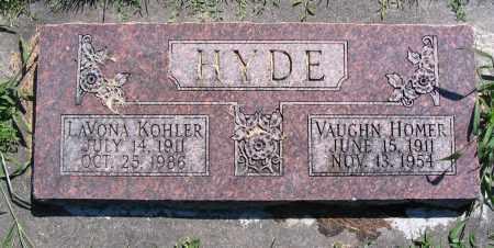 HYDE, VAUGHN HOMER - Cache County, Utah | VAUGHN HOMER HYDE - Utah Gravestone Photos