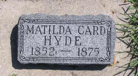 HYDE, MATILDA - Cache County, Utah   MATILDA HYDE - Utah Gravestone Photos