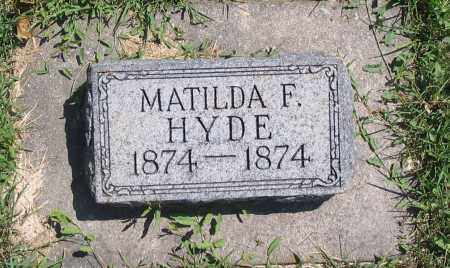 HYDE, MATILDA F. - Cache County, Utah   MATILDA F. HYDE - Utah Gravestone Photos