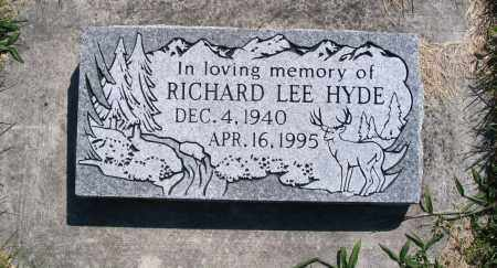 HYDE, RICHARD LEE - Cache County, Utah   RICHARD LEE HYDE - Utah Gravestone Photos