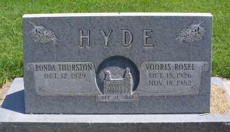 HYDE, RONDA - Cache County, Utah | RONDA HYDE - Utah Gravestone Photos