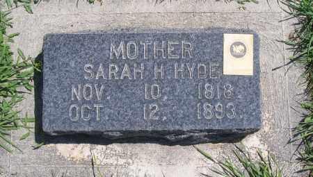 HYDE, SARAH H. - Cache County, Utah | SARAH H. HYDE - Utah Gravestone Photos