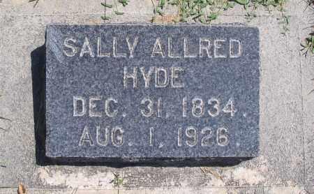 HYDE, SALLY - Cache County, Utah | SALLY HYDE - Utah Gravestone Photos