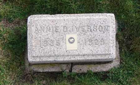 IVERSON, ANNIE D. - Cache County, Utah | ANNIE D. IVERSON - Utah Gravestone Photos