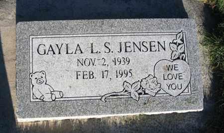 JENSEN, GAYLA L. S. - Cache County, Utah | GAYLA L. S. JENSEN - Utah Gravestone Photos